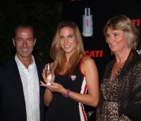 Perfume Holding CEO, Enrico Ceccato and Vice President Marketing Brigitte Wormser
