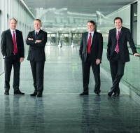 The Symrise Executive Board: Achim Daub, Bernd Hirsch, Hans Holger Gliewe and Dr. Heinz-Jürgen Bertram